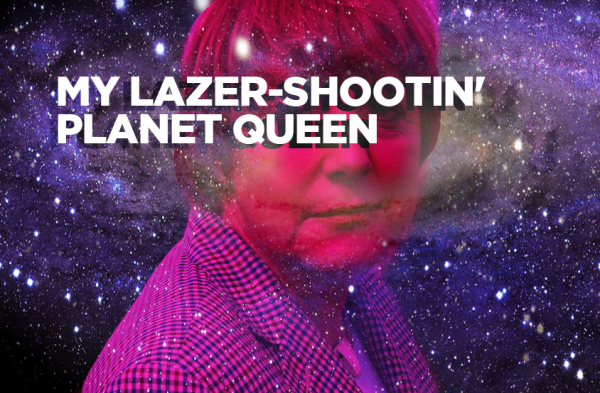 angela merkel space